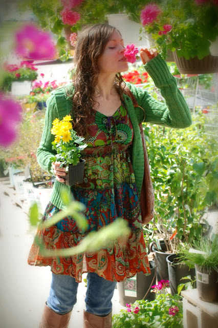 womens patch top - Wranglin' up flowers: Little Cowgirl Dress