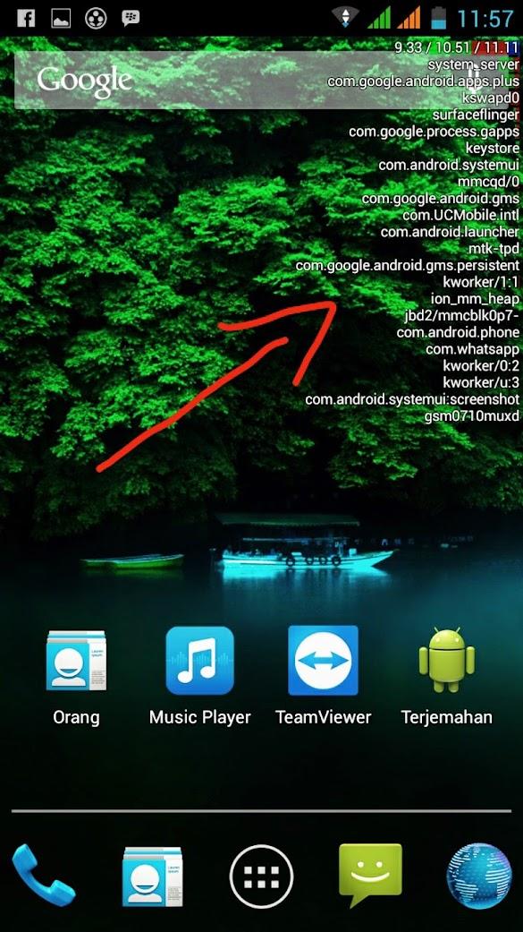 Cara Menampilkan kinerja CPU di Android