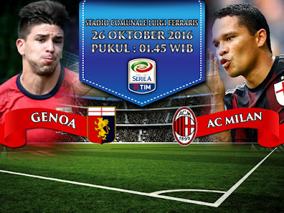 Situs Resmi SBOBET Online Terbaik - Prediksi Serie A Genoa vs AC Milan 26 Oktober 2016