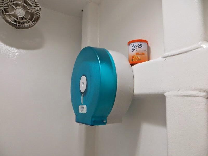 Вентилятор и туалетная бумага