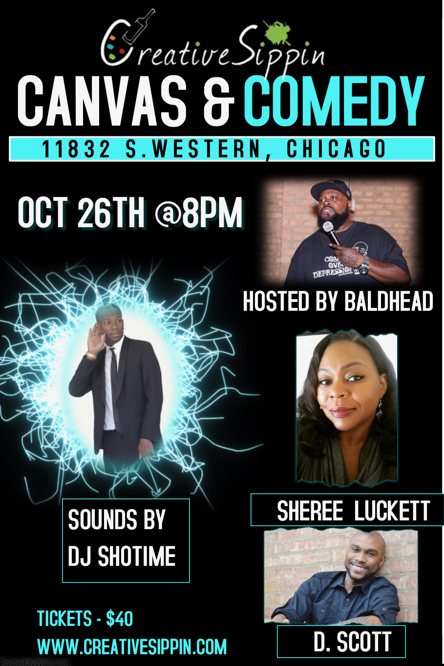 SHOW-TIME: Canvas and Comedy (Chicago, IL) (10/26/18)