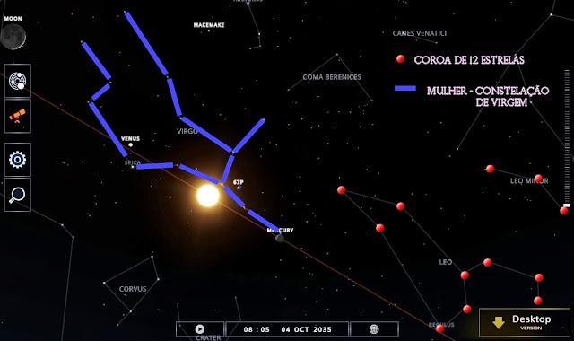 Constelação de Leão 12 estrelas