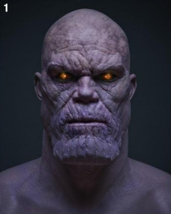 In The Mouth Of Dorkness: Thanos Concept Art!