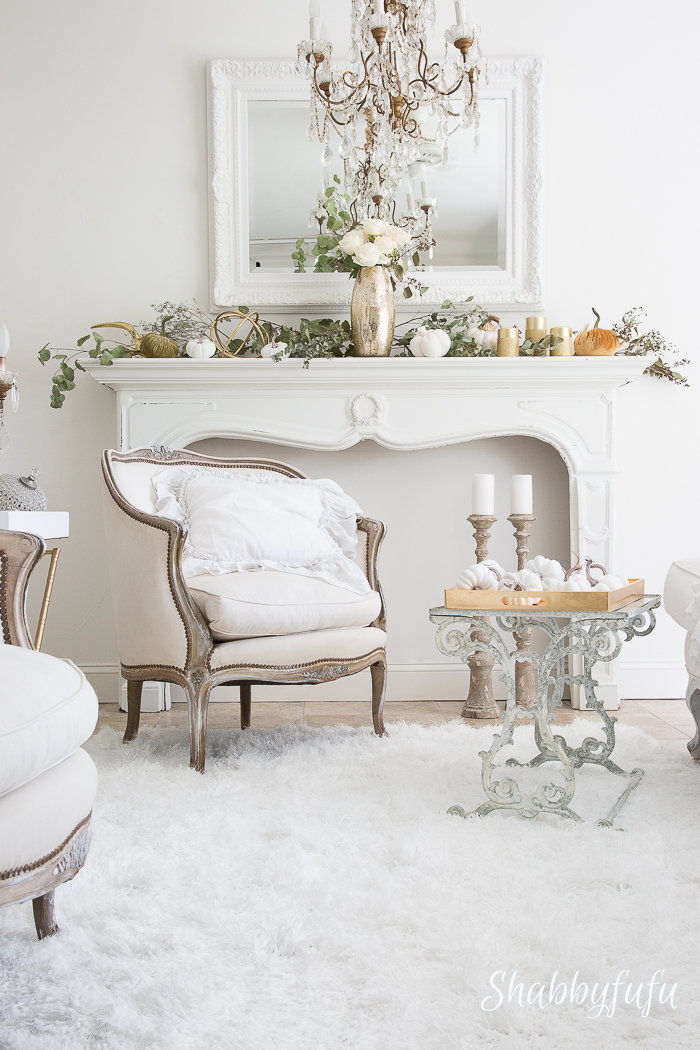 white french living room