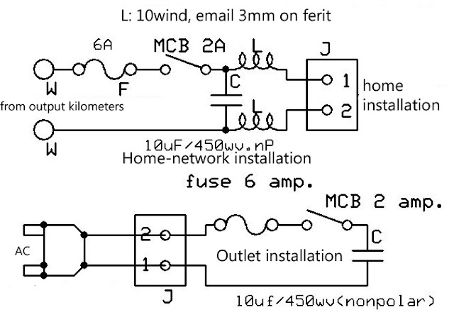 Electricity Power Saver Circuit Diagram
