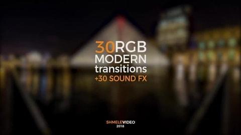 قالب ادوبي بريمير: 30 انتقال حديث مع المؤثرات الصوتية للاصدار CC 2017.1 فأعلى