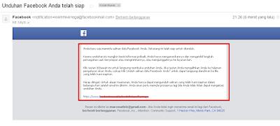 Unduhan Facebook Anda telah siap