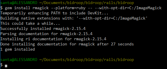 How to install RMagick Gem and ImageMagick on Windows 10 for