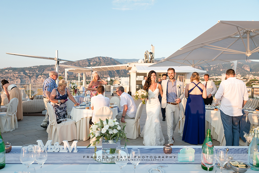 Wedding at Vista Sky Bar Sorrento