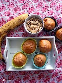 bananowe muffinki bez tłuszczu