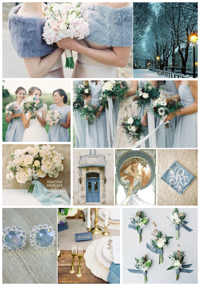 pale blue and white winter wedding inspiration