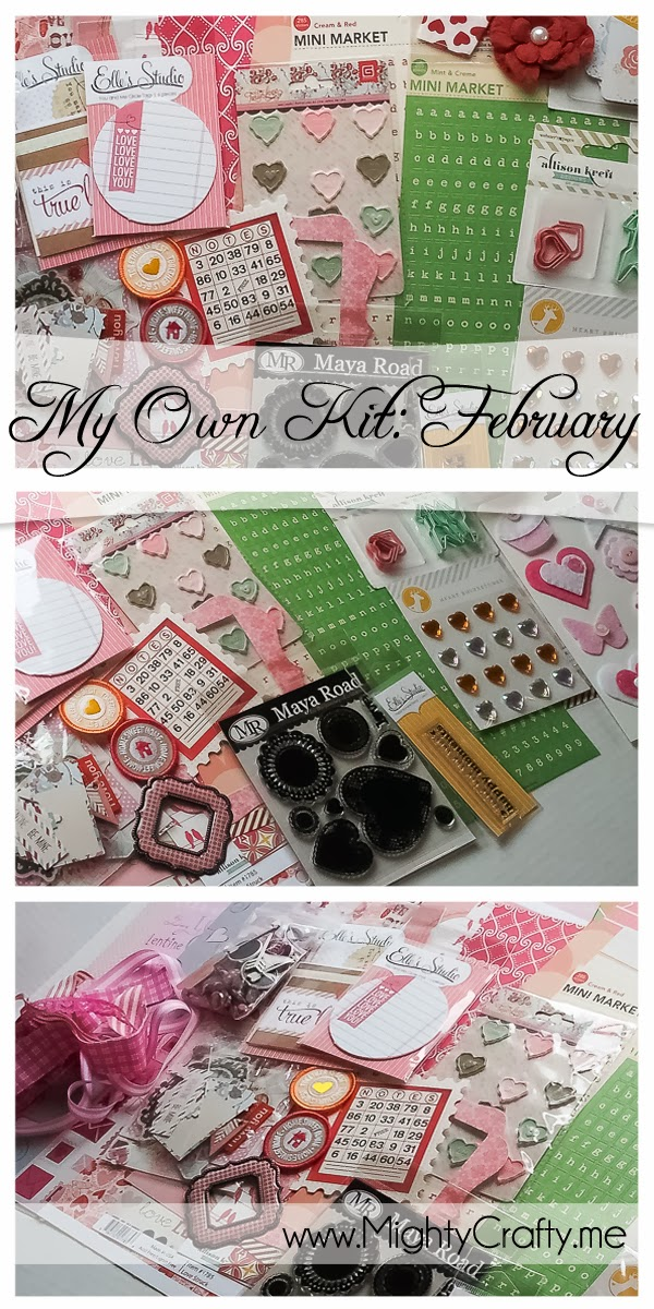 Creating my own kit: February -- www.MightyCrafty.me