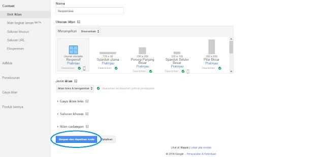 Cara Memasang Kode Unit Iklan Google AdSense Pada Blog by Anas Blogging Tips