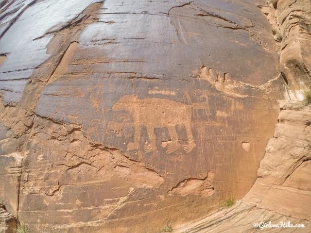Bear Panel petroglyphs, Moab, UT