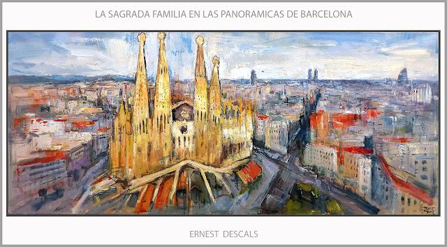 BARCELONA-PINTURA-SAGRADA FAMILIA-PANORAMICAS-PINTURAS-CATALUNYA-ARTE-CUADROS-ARTISTA-PINTOR-ERNEST DESCALS