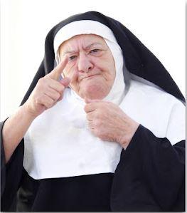 The Catholic church and Bible study room had a caretaker, who was a fierce elderly nun.