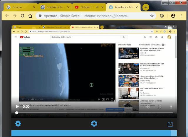 Editor estensione Aperture per Chrome