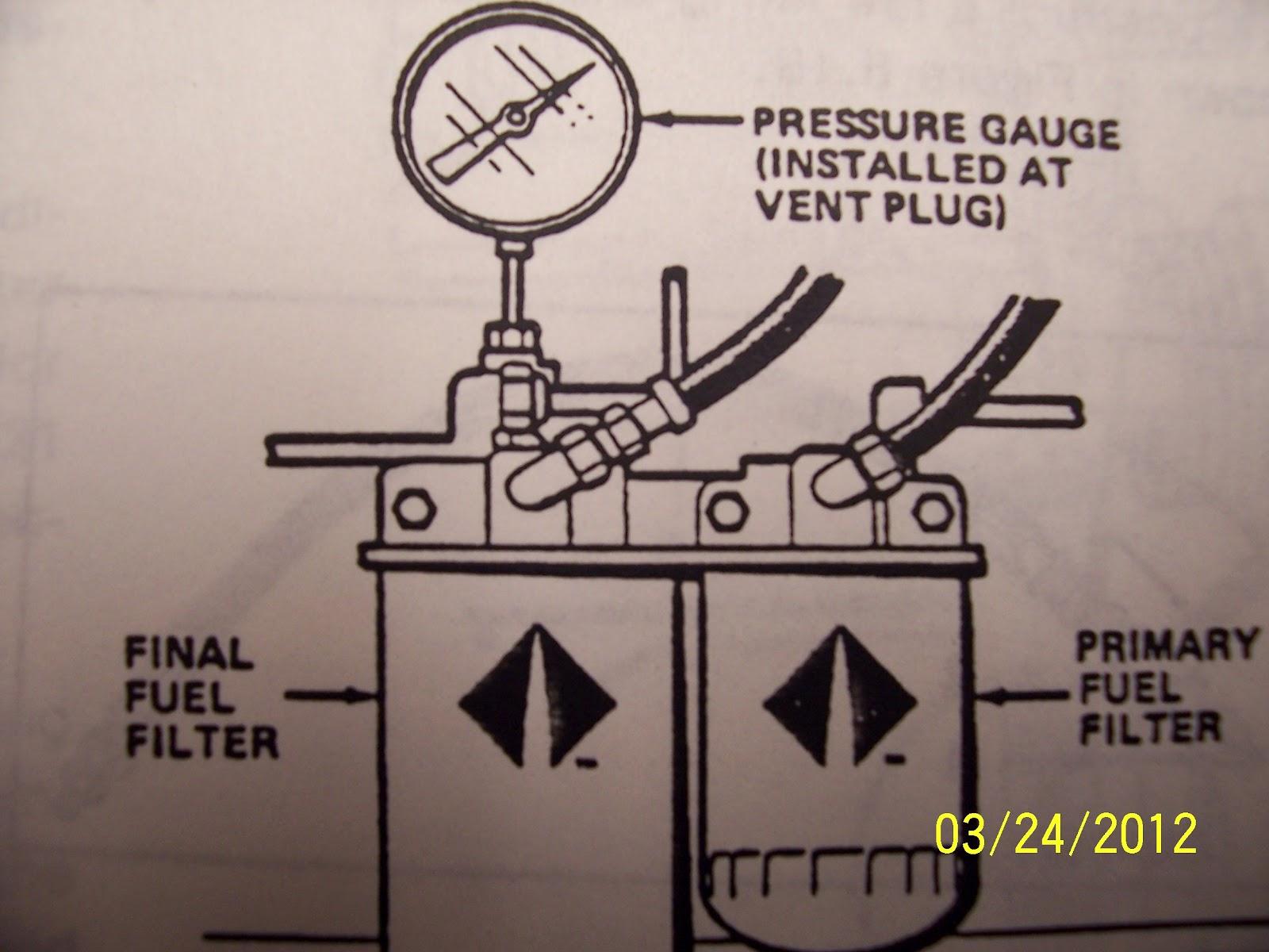 DT 466 Diesel Engine Fuel Pressure Testing Procedure