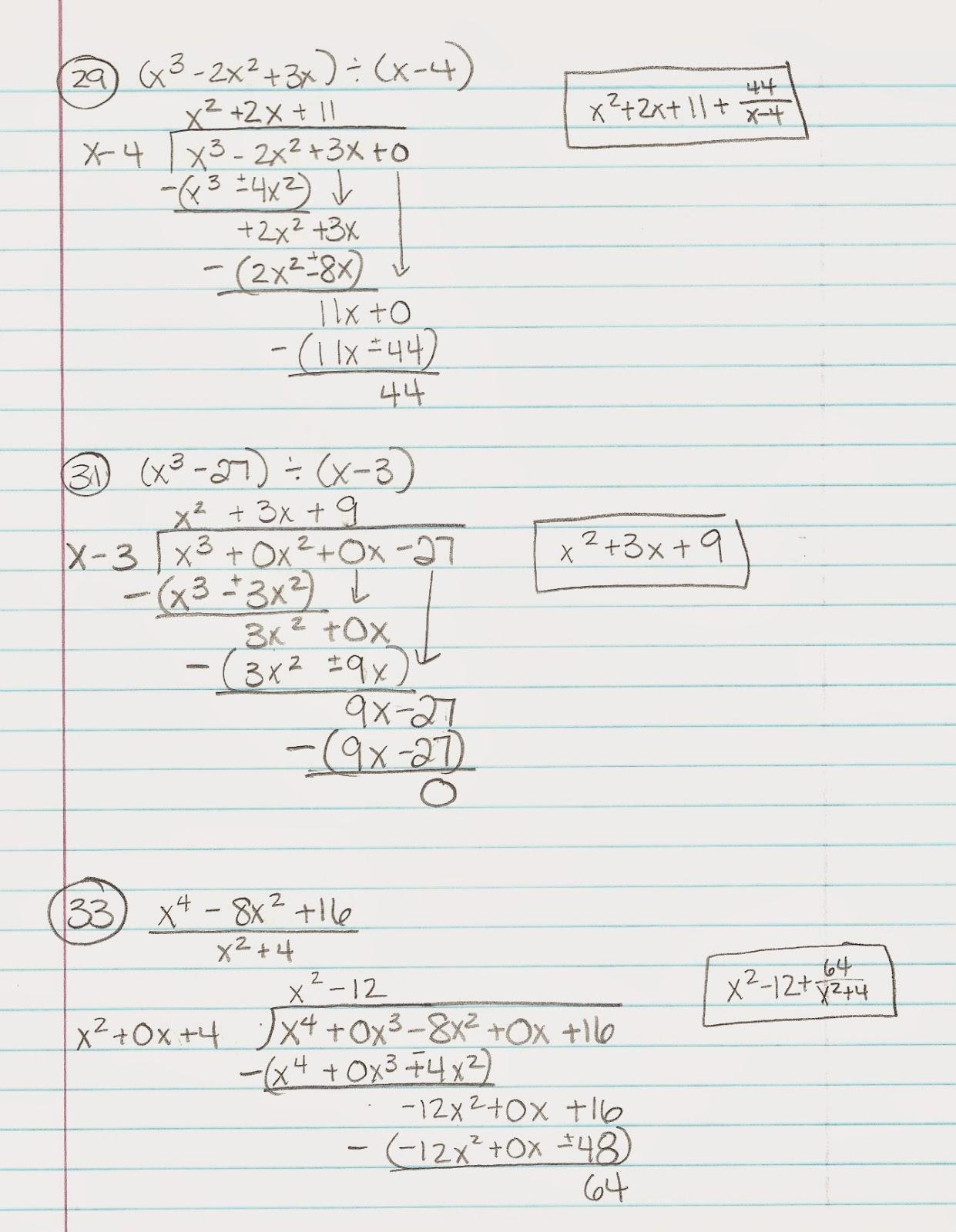 Algebra Alerts (Algebra 1 and 2): Algebra 1: Lesson 9.6 Dividing Polynomials  (Tues [ 1600 x 1241 Pixel ]