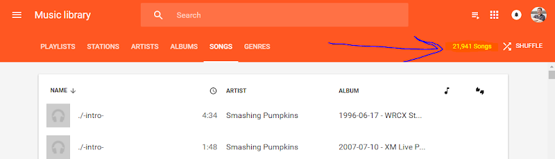 Google Music 20,000 Songs