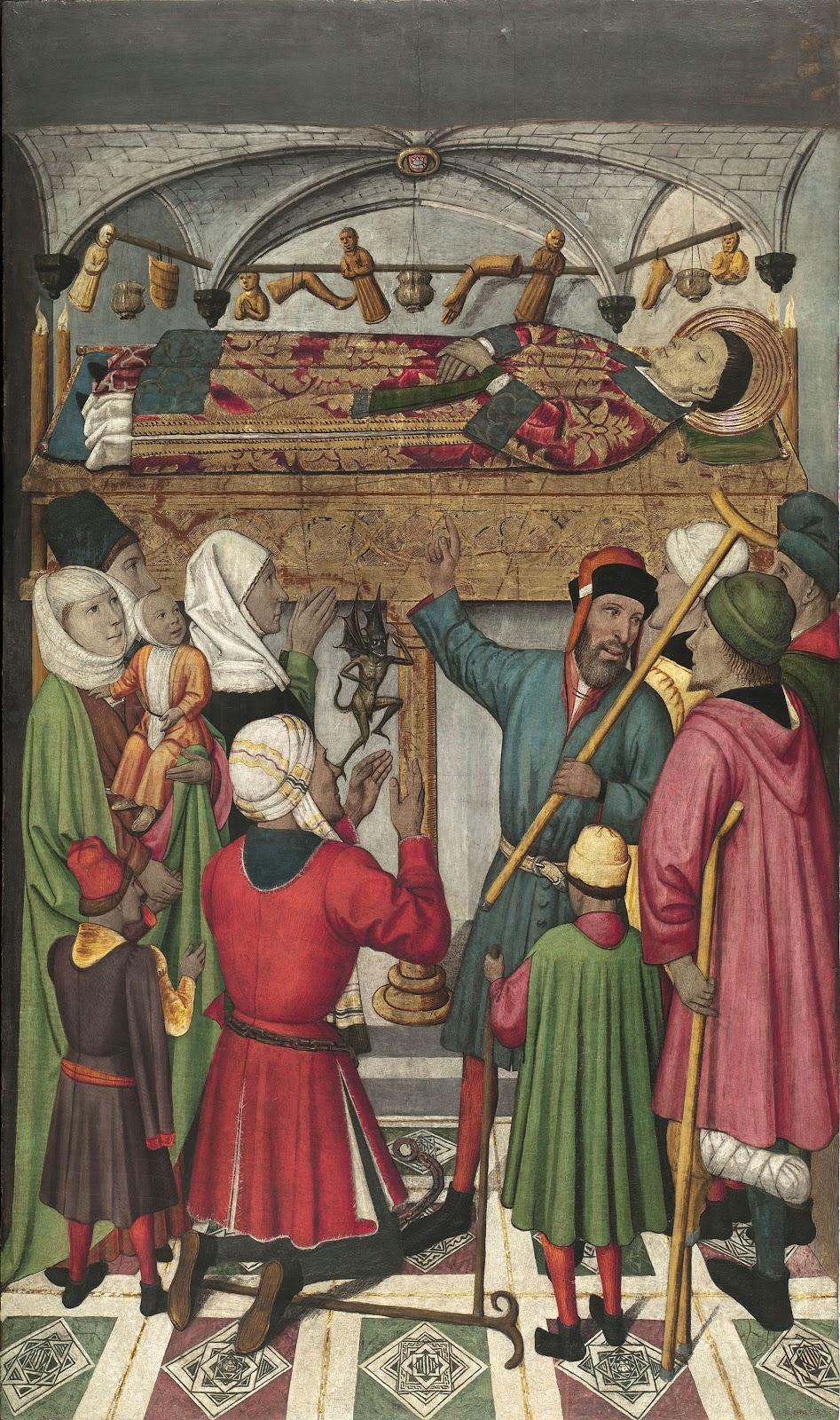 Jaume Huguet posthumous miracles by saint Vincent