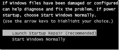 memperbaiki komputer yang hank berhebti di logo