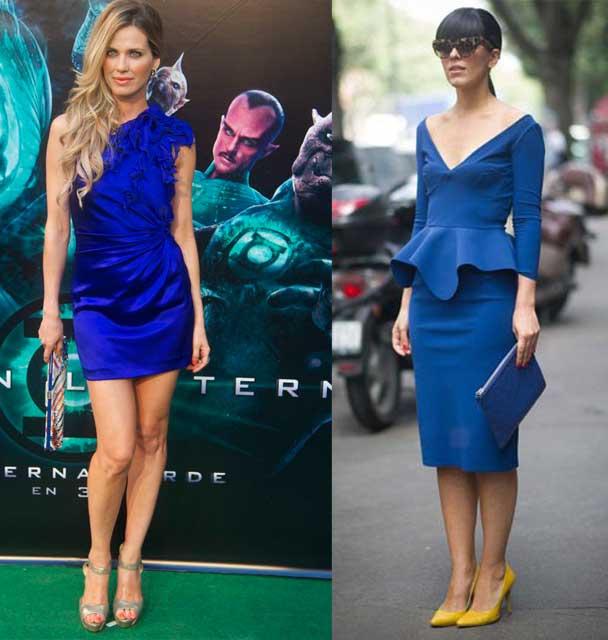 Que calzado puedo utilizar con el vestido azul ?
