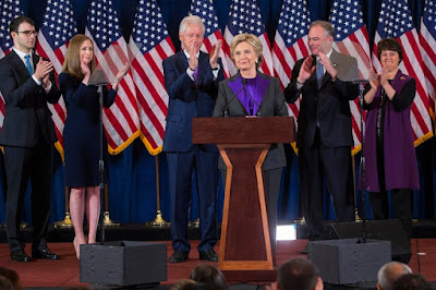 Hillary Clinton delivered her concession speech this morning