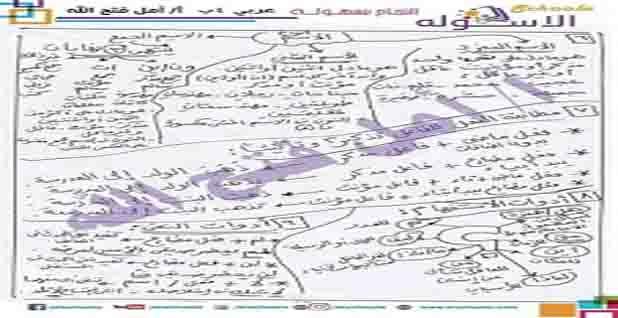 المراجعة الشاملة فى اللغة العربية للصف الرابع الابتدائى الترم الثانى 2020