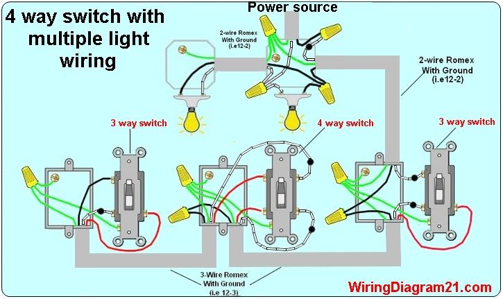 √ 4 Way Switch Wiring Diagram