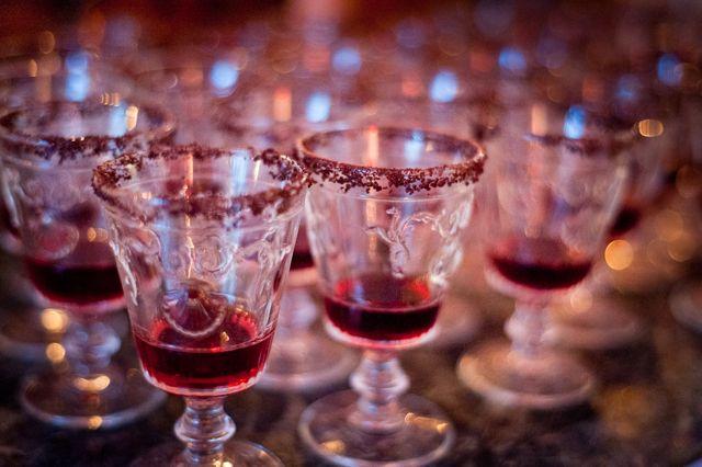 creme de mures with vermouth, white wine, chocolate dust rim, chocolate supper club, msmarmitelover