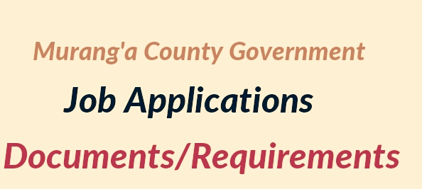 Vacancy application Murang'a county