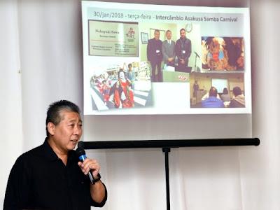 Dilson Tsunoda, que representou o Bunkyo de Registro no Japão, falou sobre a viagem em apresentação realizada na sede da entidade