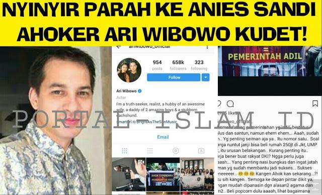 Ahoker Ari Wibowo Belum Bisa Move On, NYINYIRIN KINERJA Anies Sandi, Netizen Jawab Telak Mantap!