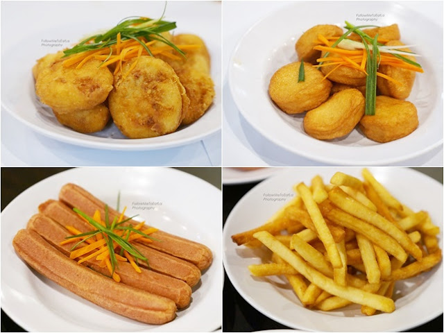 Chicken Nuggets (RM15), Seafood Tofu (RM13), French Fries (RM9), Sausages (RM12)