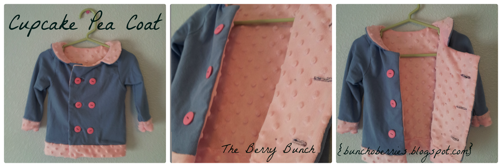 The Berry Bunch: Sewing Mama RaeAnna Patterns: Valentine's Cupcake Top and Pea Coat