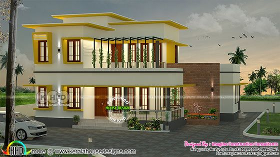 4 bedroom flat roof residence 2039 square feet