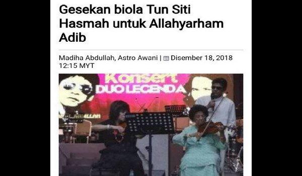 Orang Islam meninggal dunia diiringi doa bukan gesekan biola