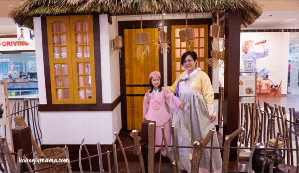 Radisson Blu Cebu - Radisson Blu business class room - Bacolod blogger - Bacolod mommy blogger - mother and daughter bonding - family travel - Cebu hotel - hanbok - korean costumes for girls - korean village scene