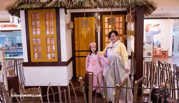 Radisson Blu Cebu - Radisson Blu business class room - Bacolod blogger - Bacolod mommy blogger - mother and daughter bonding - family travel - Cebu hotel - hanbok - korean costumes for girls - korean village scene