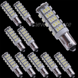 10 x T11 BA9S 1445 39431 64111 H6W White 3020 SMD 68 LED Car Light Bulb Lamp 12V