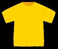 Tシャツのイラスト(黄色)