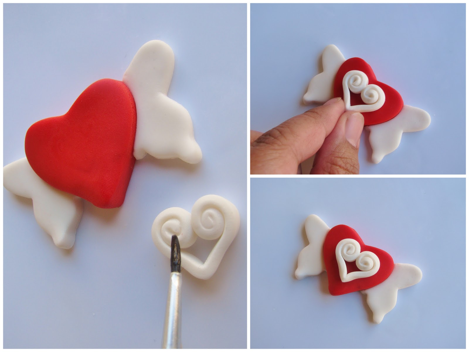 Sending All My Love Valentine Fondant Cupcake Tutorial