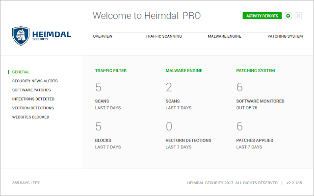 Heimdal PRO Activity Report