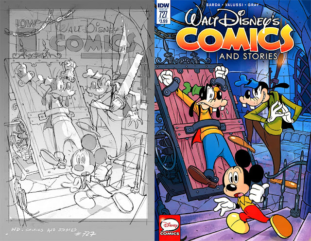 Walt Disney's Comics and Stories #727 - cover by Andrea Freccero