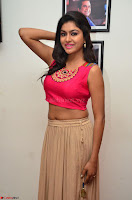 Akshita super cute Pink Choli at south indian thalis and filmy breakfast in Filmy Junction inaguration by Gopichand ~  Exclusive 003.JPG