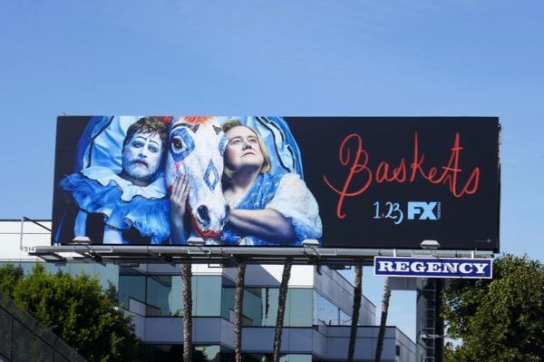 Baskets season 3 clown horse billboard