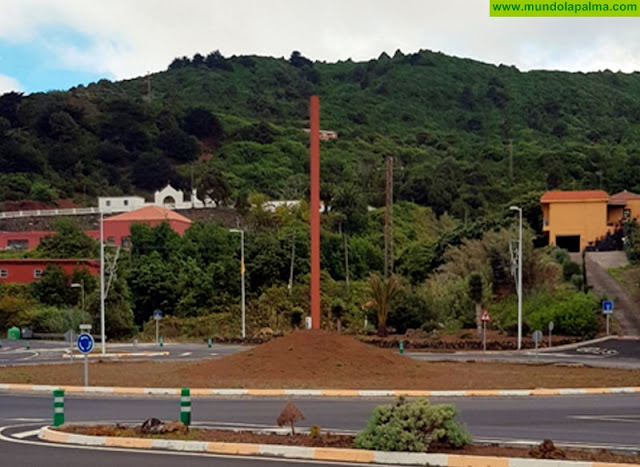 Coalición Canaria en Puntallana reclama la conclusión de las obras de la rotonda de entrada al casco urbano