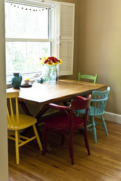 Dining Rooms With Mixed Chairs 8