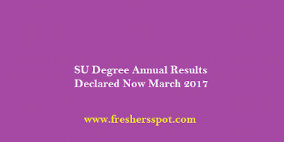 Satavahana University Degree Annual Results 2017